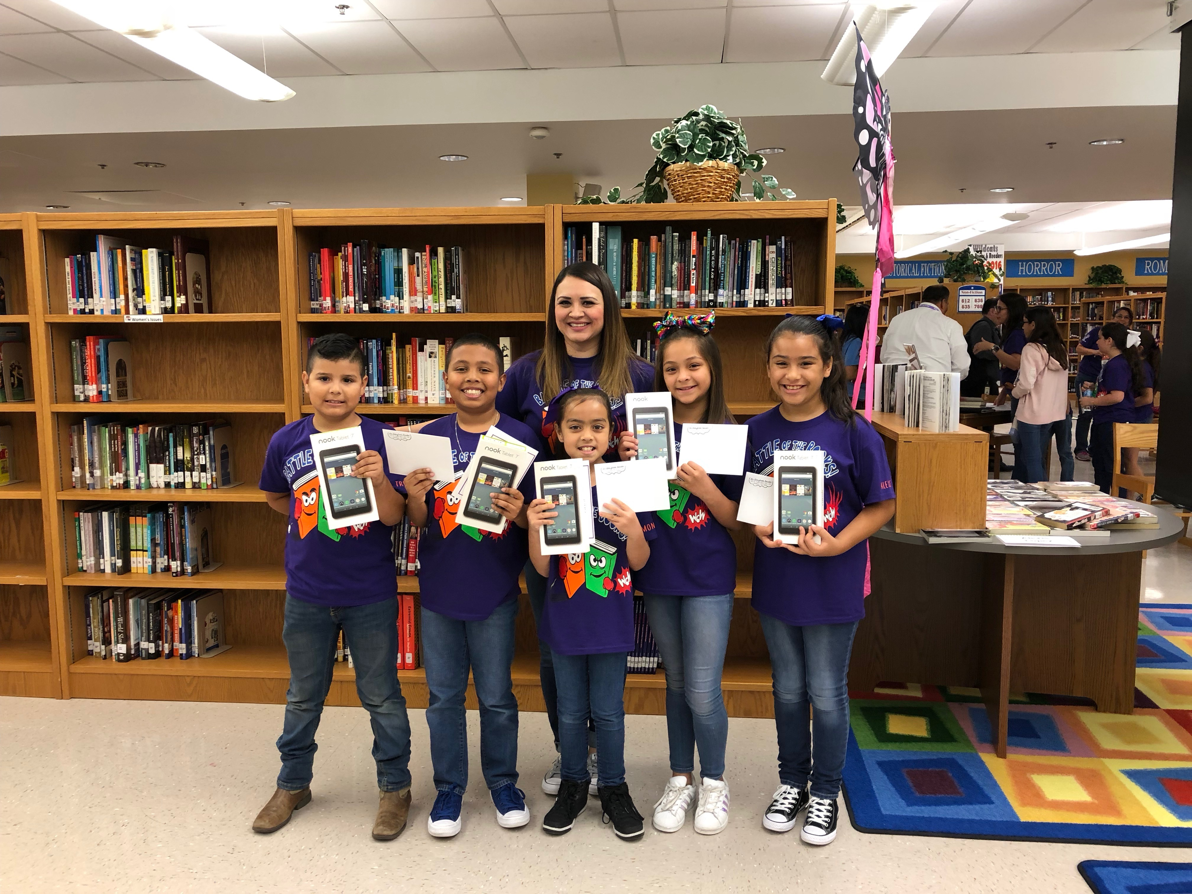 Ybarra Wins the Elementary Battle of the Books Competition