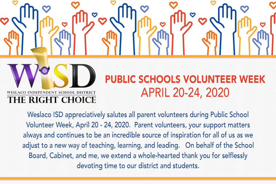 Public Schools Volunteer Week